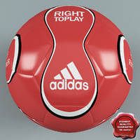 3d football ball adidas red