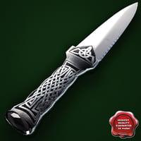 3d knife sgian dubh