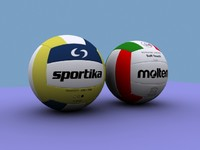 3d model volleyball