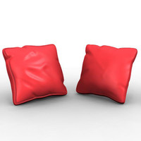 cushion pillow 3d obj