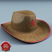 sheriff hat 3d max