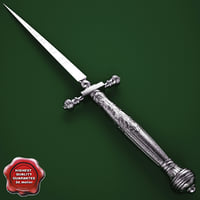 3d venetian fusetto dagger 16th