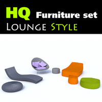 Set of 7 stylish lounge furniture