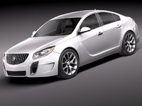 3ds max buick regal 2012 sedan