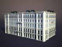 3d apartment house model