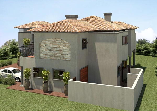 3d tuscan home for Tuscany model homes