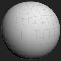 Perfect sphere mesh - 384 polygons