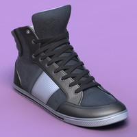 sports shoes 06 grey 3d obj