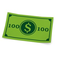 cartoon money 100 dollars 3d 3ds
