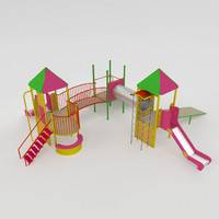 playful set 3d obj