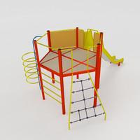 tower slide 3d model
