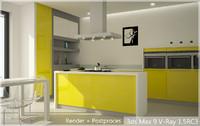 3dsmax kitchen house