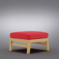 Crate and Barrel - Arbor Ottoman with Sunbrella Stone Cushion
