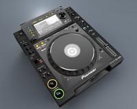 cinema4d pioneer cd player dj