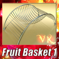 fruit basket 01 3d model
