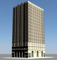 generic new york building 3d 3ds