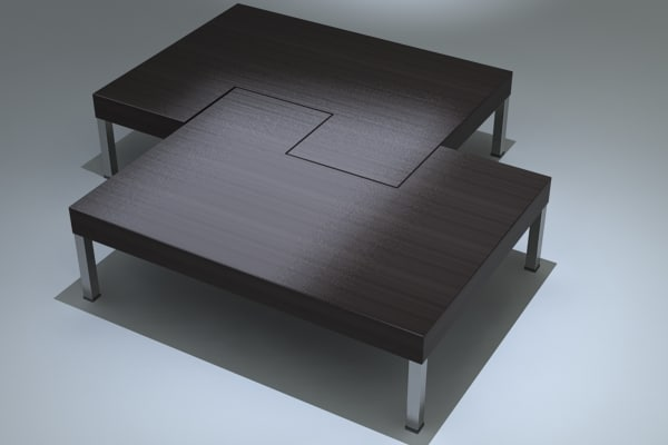 Coffee Table Puzzle 3d Max