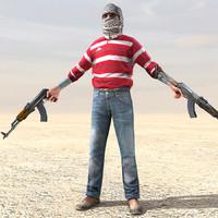 rebel ak47 arab obj