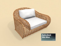 Rattan Easy Armchair
