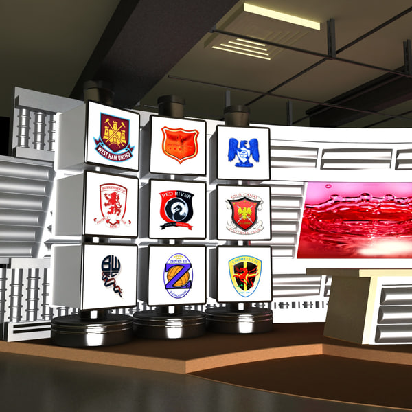 3d sport news tv studio model - Sport NEWS Tv Studio... by 3d_molier