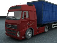 3d obj new truck trailer