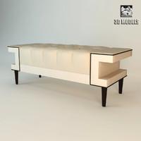 baker bench 3d max