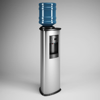 standing water dispenser 18 3d max
