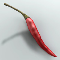 3d chili pepper model