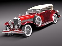 duesenberg sj convertible luxury 3d model
