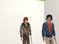 3d harry ron hermione