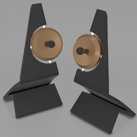 3d model klang speakers