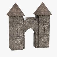 medieval gate 3d 3ds