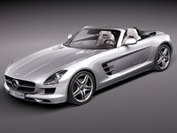 mercedes-benz sls 2012 luxury 3ds