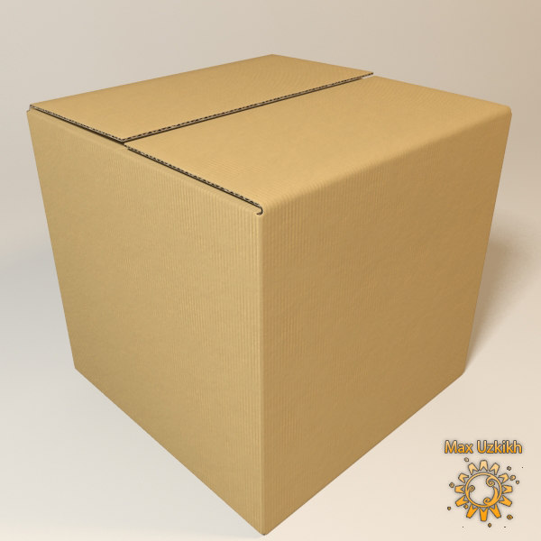 photorealistic cardboard box resolution 3d model - Photorealistic Cardboard Box and High resolution texture... by Max Uzkikh