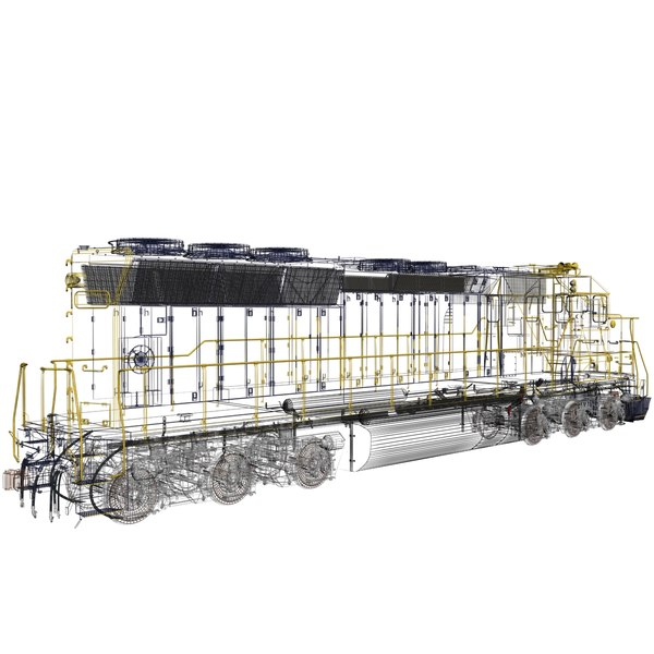 emd sd45 engines sf 3d max - Locomotive EMD SD45 SF... by 3d_artisan