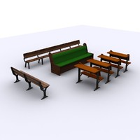 3d model benches