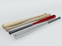 3d model baseball bats