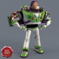 buzz lightyear pose 1 3d model
