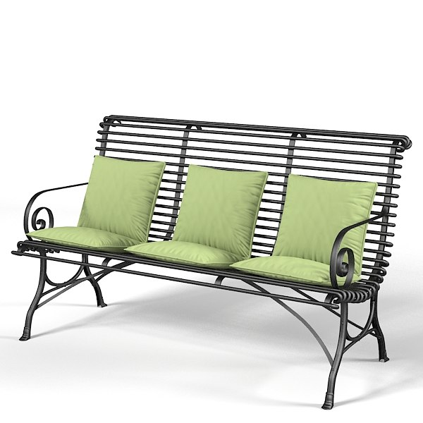 Iron terrace garden outdoor  bench pillows provence style traditional classic forged.jpg