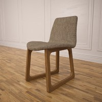 tiller chair 3d model