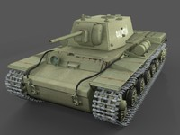 kv-1 klementi vorochilov 3d model