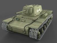kv-1 klementi vorochilov 3d model