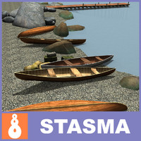 pier boat vessel 3d model