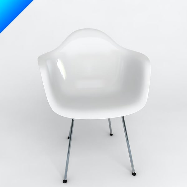 3d model eames plastic armchair - Vitra DAX Eames Plastic Armchair... by 2in1studio