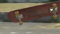 used skateboard 3d model