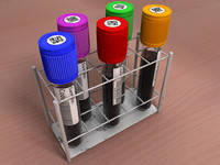 c4d rack test tubes blood