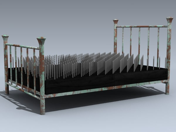 3d model bed nails - Fachiro letto di chiodi ...