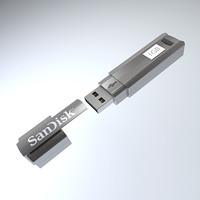 sandisk cruzer professional usb 3d model