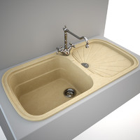 Kitchen Sink Animus G970 + tap Fantini Mediterraneo