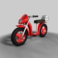 c4d motorcycle cartoon